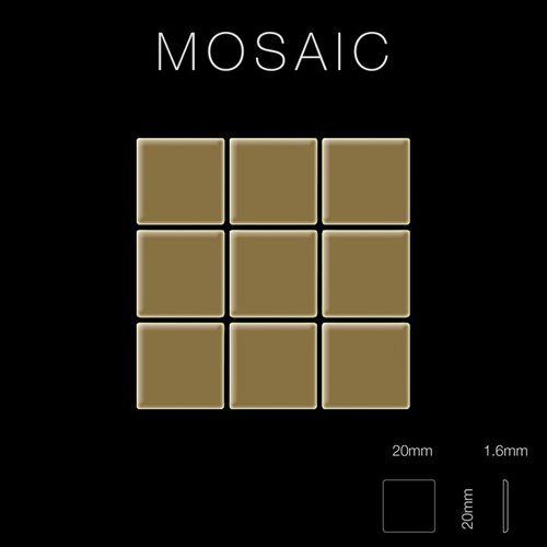 Mosaïque métal massif Carrelage Titane miroir Gold doré Grosseur 1,6mm ALLOY Mosaic-Ti-GM 1,04 m2 – Bild 2
