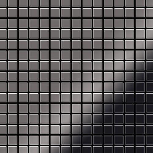 Azulejo mosaico de metal sólido Titanio Smoke espejo gris oscuro 1,6 mm de grosor ALLOY Mosaic-Ti-SM 1,04 m2