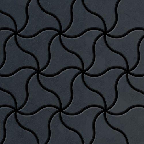 Mozaïektegels massief metaal gewalst ruw staal grijs 1,6 mm dik ALLOY Ninja-RS ontworpen door Karim Rashid – Bild 1