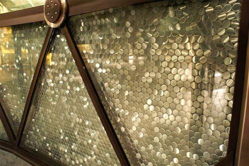 Mosaik Fliese massiv Metall Edelstahl marine gebürstet in grau 1,6mm stark ALLOY Penny-S-S-MB 0,88 m2 – Bild 5