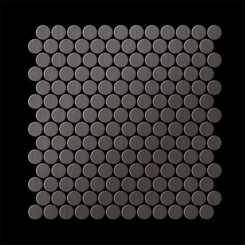 Mosaïque métal massif Carrelage Titane brossé Smoke gris foncé Grosseur 1,6mm ALLOY Penny-Ti-SB 0,92 m2 – Bild 3