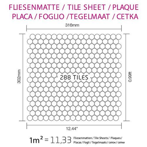 Mosaïque métal massif Carrelage Titane miroir Smoke gris foncé Grosseur 1,6mm ALLOY Penny-Ti-SM 0,92 m2 – Bild 4