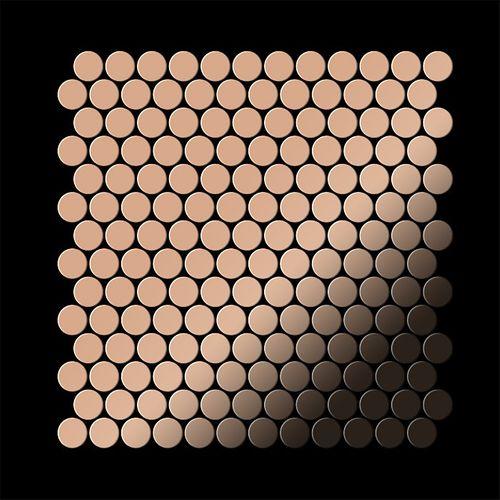 Mozaïektegels massief metaal gewalst koper koperrood 1,6 mm dik ALLOY Penny-CM – Bild 3