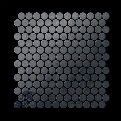 Mosaik Fliese massiv Metall Rohstahl gewalzt in grau 1,6mm stark ALLOY Penny-RS 0,88 m2 – Bild 3