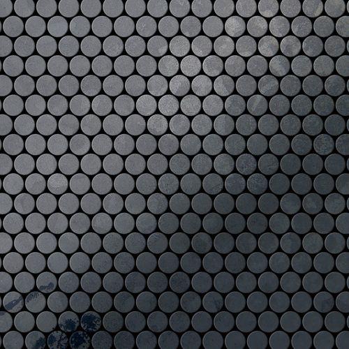 Mosaik Fliese massiv Metall Rohstahl gewalzt in grau 1,6mm stark ALLOY Penny-RS 0,88 m2 – Bild 1