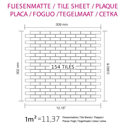 Mosaik Fliese massiv Metall Edelstahl gebürstet in grau 1,6mm stark ALLOY PK-S-S-B 0,88 m2 – Bild 6