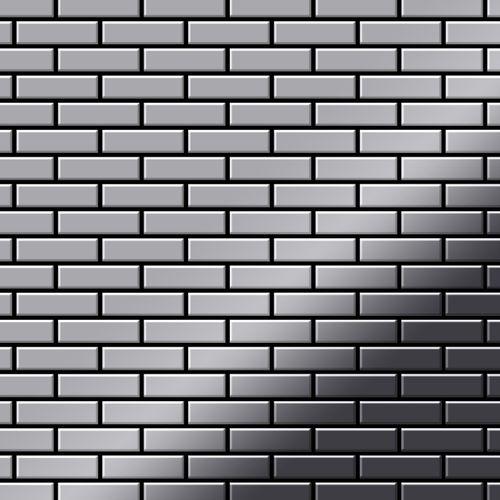 Mosaik Fliese massiv Metall Edelstahl hochglänzend in grau 1,6mm stark ALLOY PK-S-S-M 0,88 m2 – Bild 1