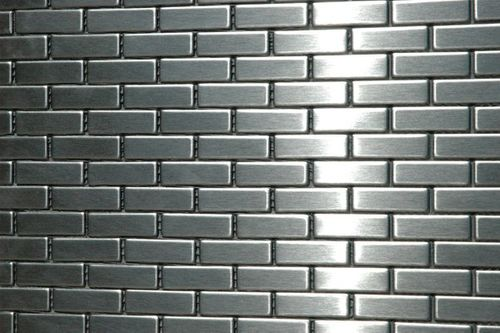 Mosaik Fliese massiv Metall Edelstahl marine gebürstet in grau 1,6mm stark ALLOY PK-S-S-MB 0,88 m2 – Bild 4