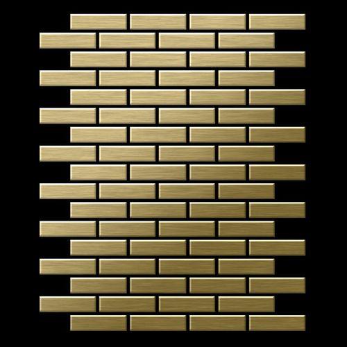 Mosaik Fliese massiv Metall Titan gebürstet in gold 1,6mm stark ALLOY PK-Ti-GB 0,88 m2 – Bild 3