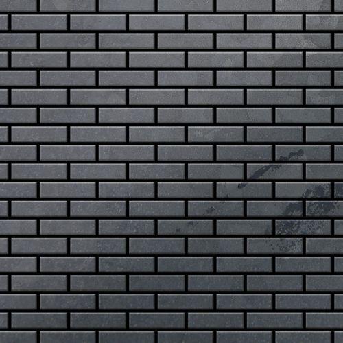 Mosaik Fliese massiv Metall Rohstahl gewalzt in grau 1,6mm stark ALLOY PK-RS 0,88 m2 – Bild 1