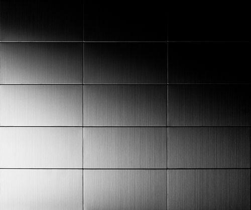 Mozaïektegels massief metaal roestvrij staal geborsteld grijs 1,6 mm dik ALLOY Subway-S-S-B – Bild 5