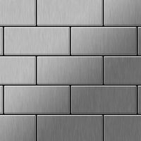 Metal Mosaic Tile Stainless Steel brushed grey 1,6mm Subway-S-S-B