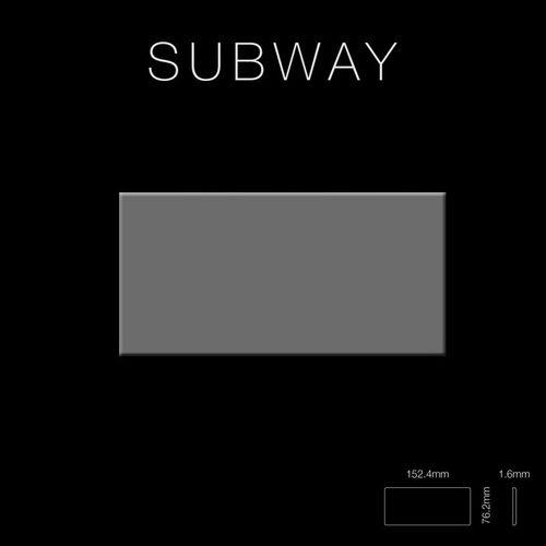 Mozaïektegels massief metaal roestvrij staal hoogglanzend grijs 1,6 mm dik ALLOY Subway-S-S-M – Bild 2