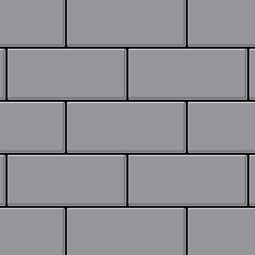 Metal Mosaic Tile Stainless Steel matt grey 1,6mm Subway-S-S-MA