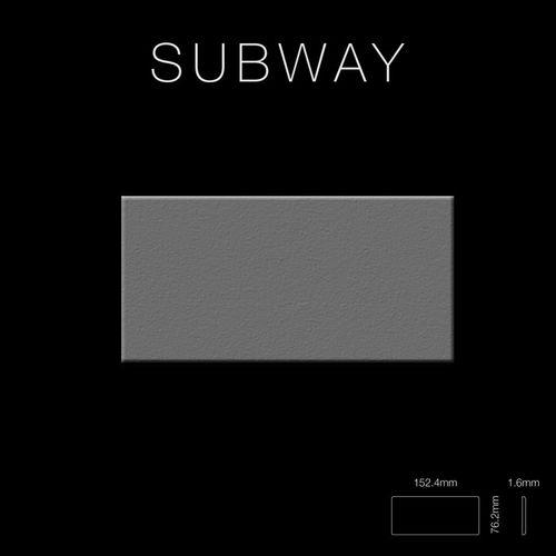 Mosaik Fliese massiv Metall Edelstahl matt in grau 1,6mm stark ALLOY Subway-S-S-MA 0,58 m2 – Bild 2