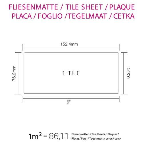 Mosaico metallo solido Acciaio inossidabile Marine spazzolato grigio spesso 1,6 mm ALLOY Subway-S-S-MB – Bild 4