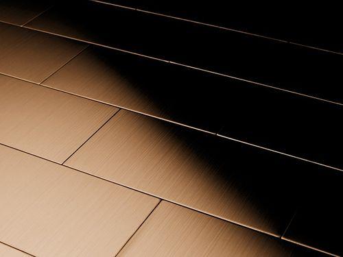 Mosaïque métal massif Carrelage Titane brossé Amber cuivre Grosseur 1,6mm ALLOY Subway-Ti-AB 0,58 m2 – Bild 4