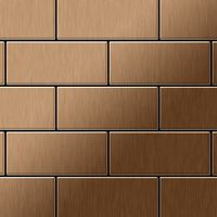Metal Mosaic Tile Titanium Amber brushed copper 1,6mm Subway-Ti-AB 001