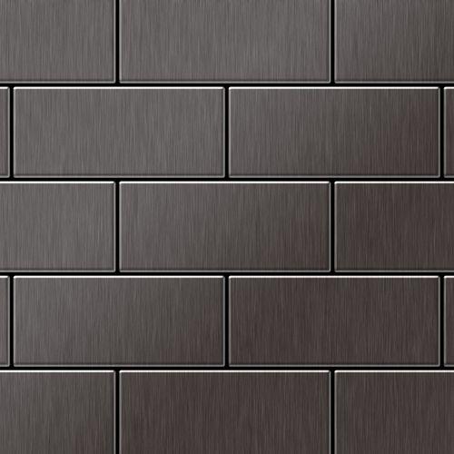 Mozaïektegels massief metaal titaan Smoke geborsteld grijs 1,6 mm dik ALLOY Subway-Ti-SB – Bild 1