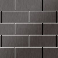Metal Mosaic Tile Titanium Smoke brushed dark grey 1,6mm Subway-Ti-SB