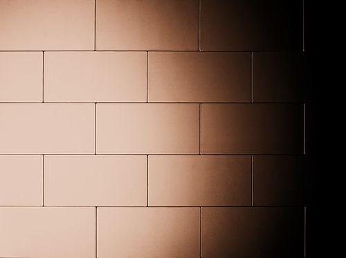 Mosaik Fliese massiv Metall Kupfer gewalzt in kupfer 1,6mm stark ALLOY Subway-CM 0,58 m2 – Bild 5