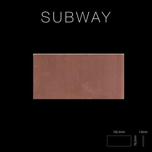 Mosaïque métal massif Carrelage Cuivre laminé cuivre Grosseur 1,6mm ALLOY Subway-CM 0,58 m2 – Bild 2