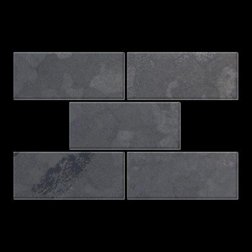 Mozaïektegels massief metaal gewalst ruw staal grijs 1,6 mm dik ALLOY Subway-RS – Bild 3