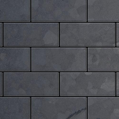 Mosaik Fliese massiv Metall Rohstahl gewalzt in grau 1,6mm stark ALLOY Subway-RS 0,58 m2 – Bild 1