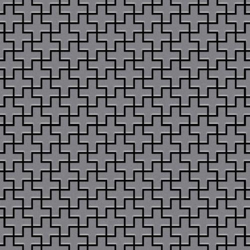 Mosaik Fliese massiv Metall Edelstahl matt in grau 1,6mm stark ALLOY Swiss Cross-S-S-MA 0,88 m2 – Bild 1