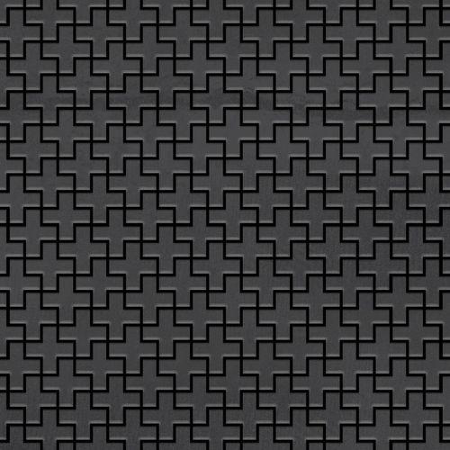 Mosaik Fliese massiv Metall Rohstahl gewalzt in grau 1,6mm stark ALLOY Swiss Cross-RS 0,88 m2 – Bild 1