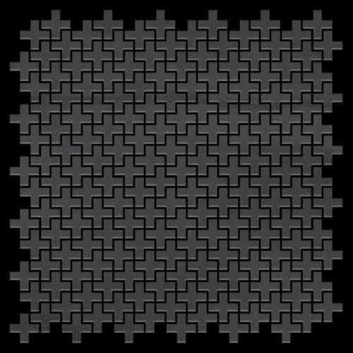 Azulejo mosaico de metal sólido Acero bruto laminado gris oscuro 1,6 mm de grosor ALLOY Swiss Cross-RS 0,88 m2 – Imagen 3