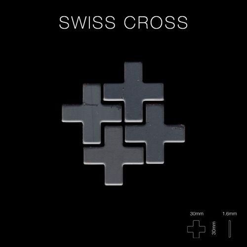Azulejo mosaico de metal sólido Acero bruto laminado gris oscuro 1,6 mm de grosor ALLOY Swiss Cross-RS 0,88 m2 – Imagen 2