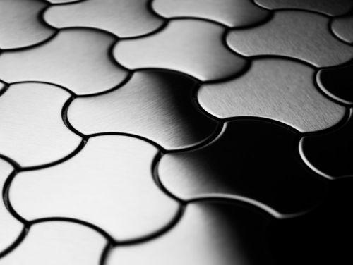Mosaïque métal massif Carrelage Acier inoxydable brossé gris Grosseur 1,6mm ALLOY Ubiquity-S-S-B dessiné par Karim Rashid0,75 m2 – Bild 4