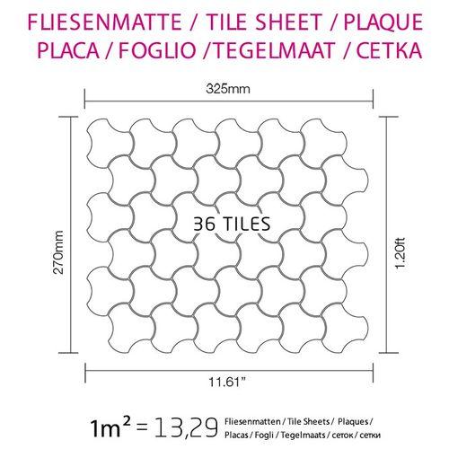 Mosaik Fliese massiv Metall Edelstahl hochglänzend in grau 1,6mm stark ALLOY Ubiquity-S-S-M Designed by Karim Rashid 0,75 m2 – Bild 5