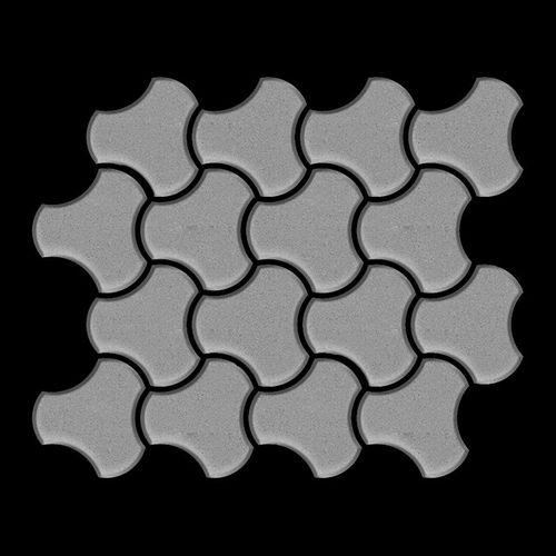 Mosaïque métal massif Carrelage Acier inoxydable matt gris Grosseur 1,6mm ALLOY Ubiquity-S-S-MA dessiné par Karim Rashid0,75 m2 – Bild 3