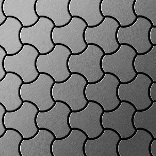 Mosaïque métal massif Carrelage Acier inoxydable Marine brossé gris Grosseur 1,6mm ALLOY Ubiquity-S-S-MB dessiné par Karim Rashid0,75 m2