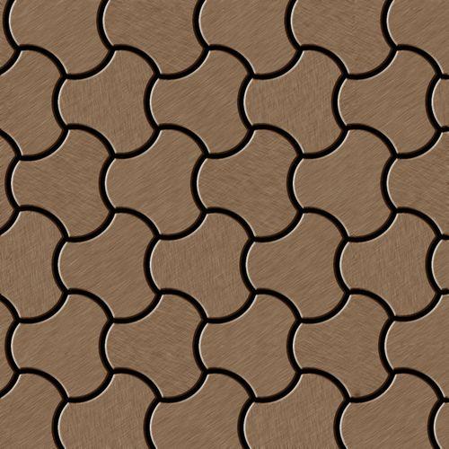 Mosaïque métal massif Carrelage Titane brossé Amber cuivre Grosseur 1,6mm ALLOY Ubiquity-Ti-AB dessiné par Karim Rashid0,75 m2 – Bild 1