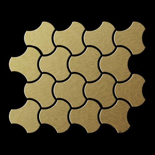Mosaïque métal massif Carrelage Titane brossé Gold doré Grosseur 1,6mm ALLOY Ubiquity-Ti-GB dessiné par Karim Rashid0,75 m2 – Bild 3