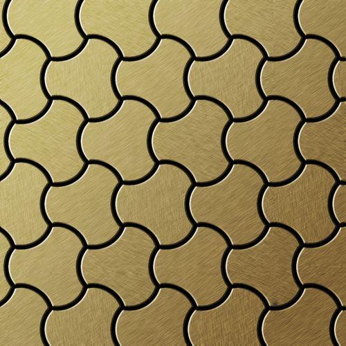 Mosaïque métal massif Carrelage Titane brossé Gold doré Grosseur 1,6mm ALLOY Ubiquity-Ti-GB dessiné par Karim Rashid0,75 m2 – Bild 1