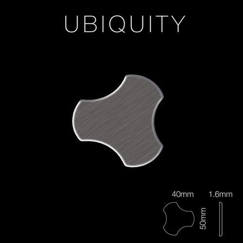 Mosaïque métal massif Carrelage Titane brossé Smoke gris foncé Grosseur 1,6mm ALLOY Ubiquity-Ti-SB dessiné par Karim Rashid0,75 m2 – Bild 2