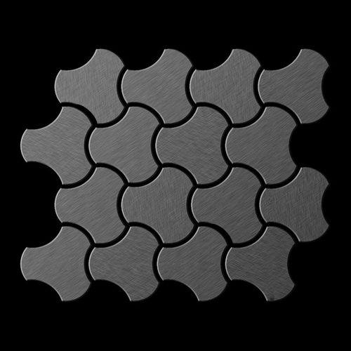 Mosaïque métal massif Carrelage Titane brossé Smoke gris foncé Grosseur 1,6mm ALLOY Ubiquity-Ti-SB dessiné par Karim Rashid0,75 m2 – Bild 3