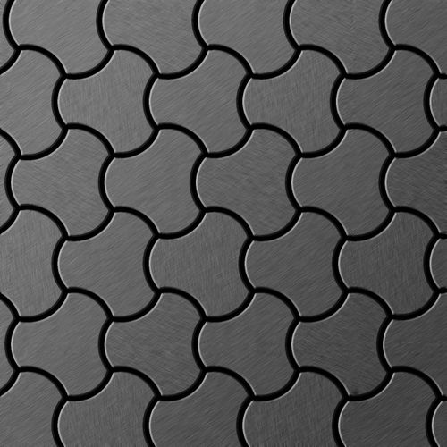 Mosaïque métal massif Carrelage Titane brossé Smoke gris foncé Grosseur 1,6mm ALLOY Ubiquity-Ti-SB dessiné par Karim Rashid0,75 m2 – Bild 1