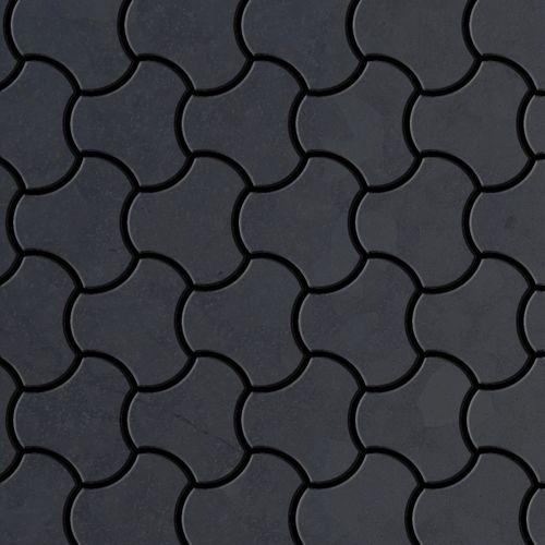 Mosaik Fliese massiv Metall Rohstahl gewalzt in grau 1,6mm stark ALLOY Ubiquity-RS Designed by Karim Rashid 0,75 m2 – Bild 1