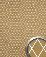Wandpaneel 18606 LINEA lichtdurchlässig Rombo Mosaik gold beige
