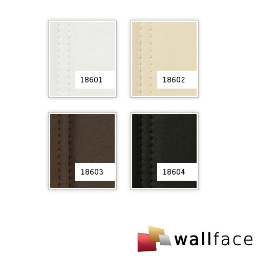 1 CAMPIONE S-18603-SA WallFace LOUNGE MOCCA Leather Collection | CAMPIONE di pannello decorativo in circa DIN A4 – Bild 4