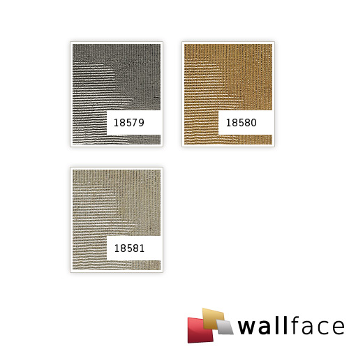 1 CAMPIONE S-18580-SA WallFace ART GOLDEN AGE Structure Collection | CAMPIONE di pannello decorativo in circa DIN A4 – Bild 4
