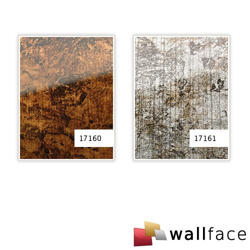 Revestimiento mural Vidrio WallFace 17160 VINTAGE Panel autoadhesivo plateado gris 2,60 m2 – Imagen 2