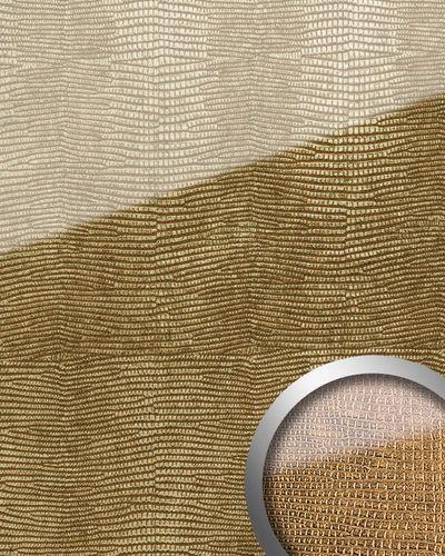 Wandpaneel glas-optiek de luxe decor zelfklevend WallFace16973 LEGUAN wandbekleding goud bruin 2,60 m2 – Bild 1