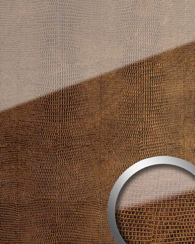 Wandpaneel Glas-Optik WallFace 16972 LEGUAN Luxus Dekor Wandverkleidung selbstklebend kupfer braun | 2,60 qm – Bild 1