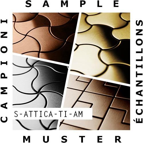 MUESTRA Mosaico S-Attica-Ti-AM | Colección Attica Titanio Amber pulido espejo